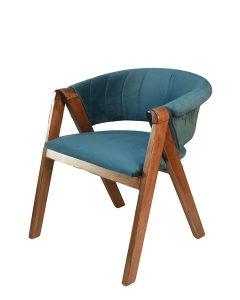 PİR2035-Mavi Oval Sandalye